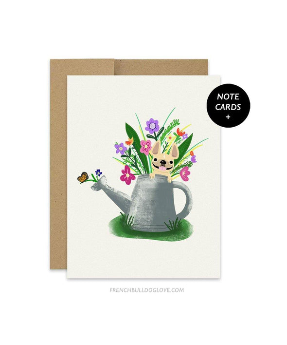 #100DAYPROJECT French Bulldog Note Cards Box Set of 12 - FLOWERS