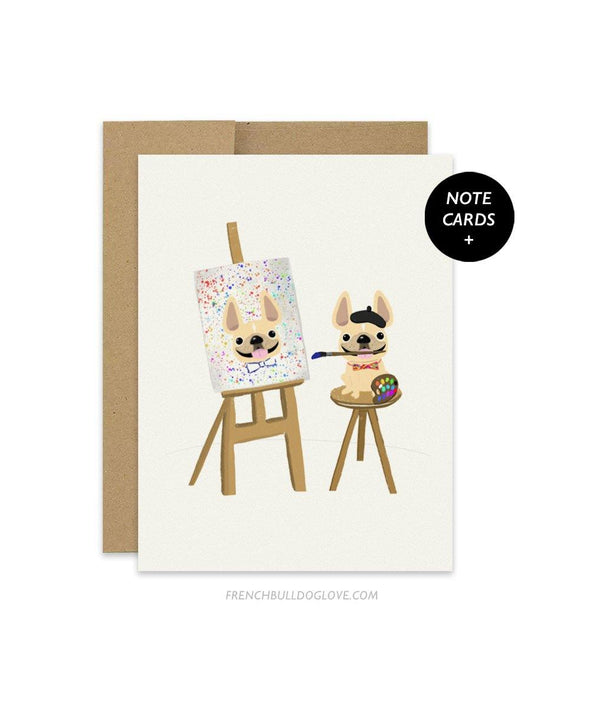 #100DAYPROJECT French Bulldog Note Cards Box Set of 12 - PAINTER
