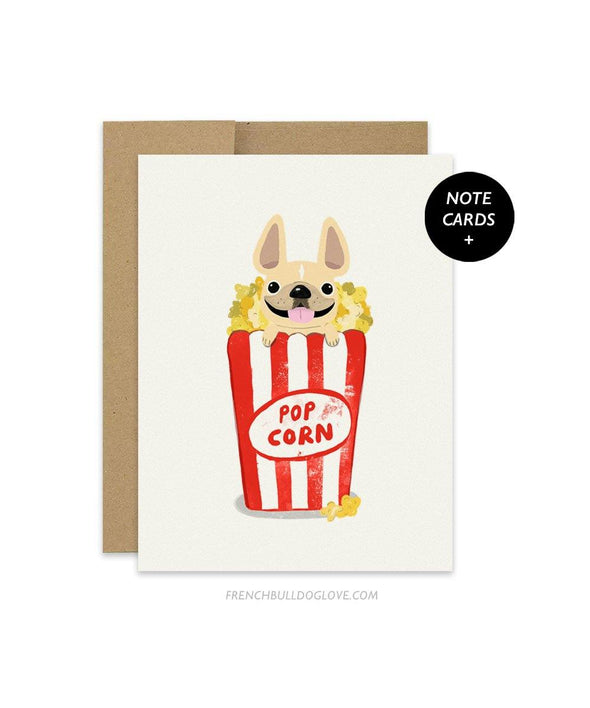 #100DAYPROJECT French Bulldog Note Cards Box Set of 12 - POPCORN