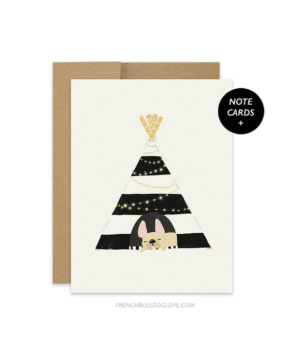#100DAYPROJECT French Bulldog Note Cards Box Set of 12 - TEEPEE