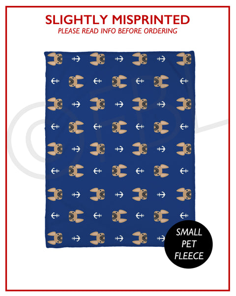 SLIGHTLY MISPRINTED Anchors Fleece Blanket - FAWN - Small // FINAL SALE