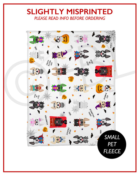 SLIGHTLY MISPRINTED Halloween Fleece Blanket - Small // FINAL SALE