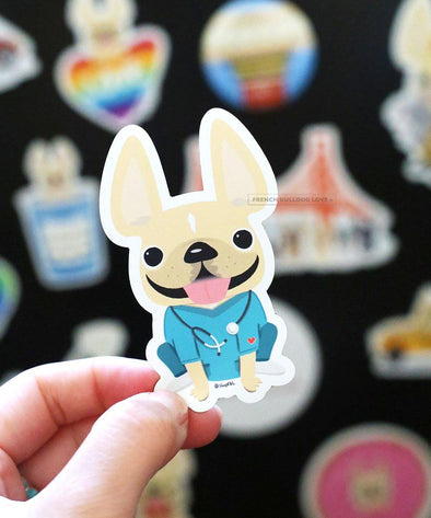 Nurse Magnet - French Bulldog Magnet
