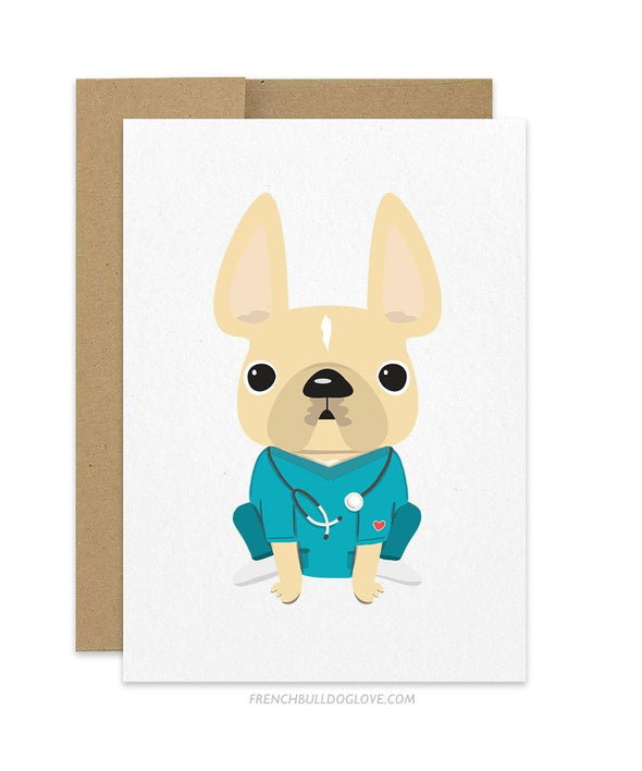 THANK YOU NURSES - French Bulldog Card