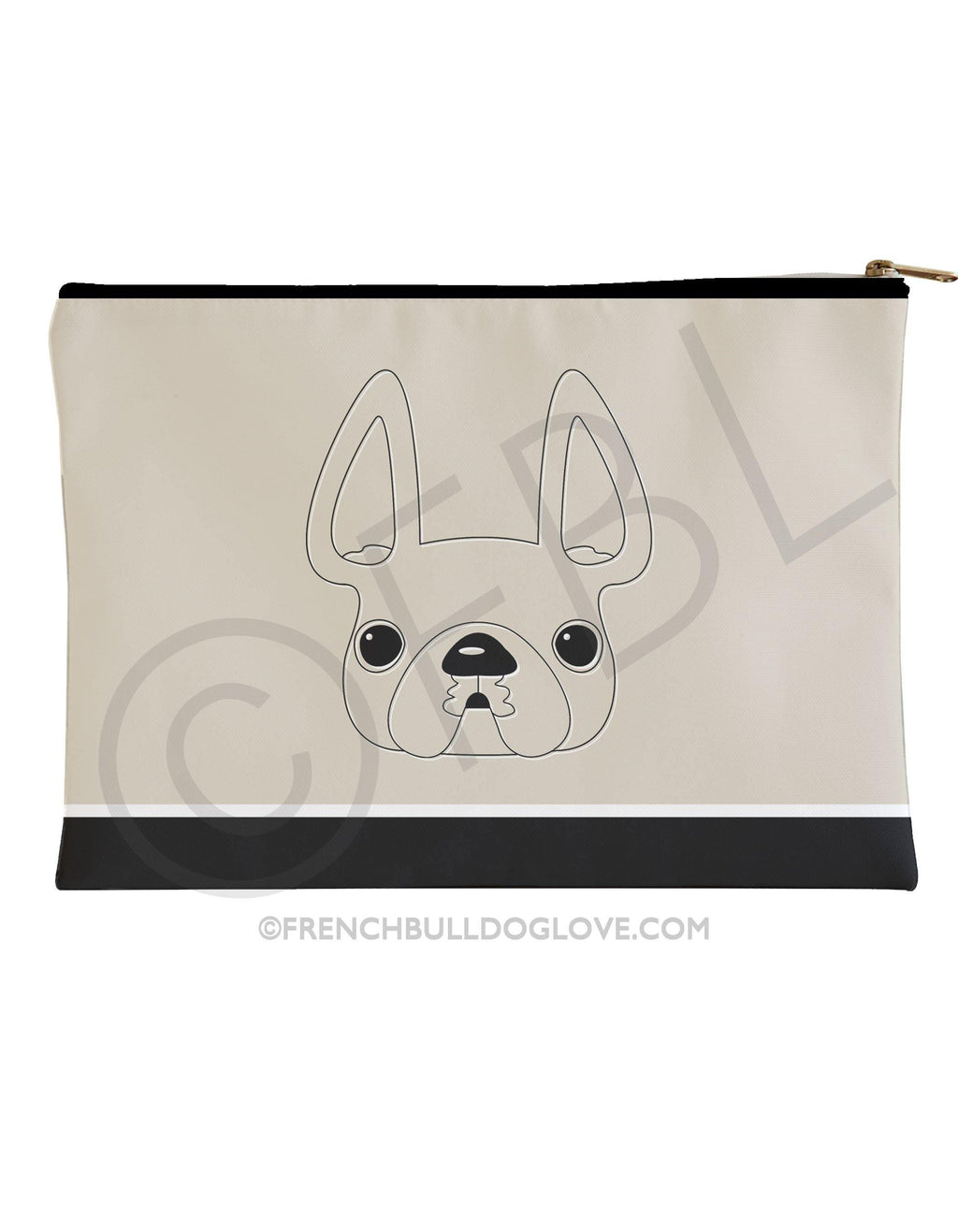 A Simple Frenchie - French Bulldog Pouch - Large