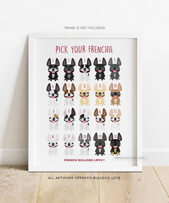 Sailor Frenchie - French Bulldog Halloween Print 8x10