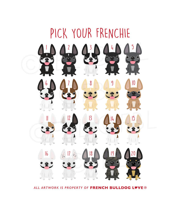 My Favorite - French Bulldog Valentine's Day Card