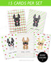 Holiday Cheer - 15 Card French Bulldog Holiday Box Set