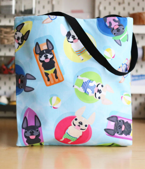 Frenchie Pool Party - French Bulldog Tote Bag