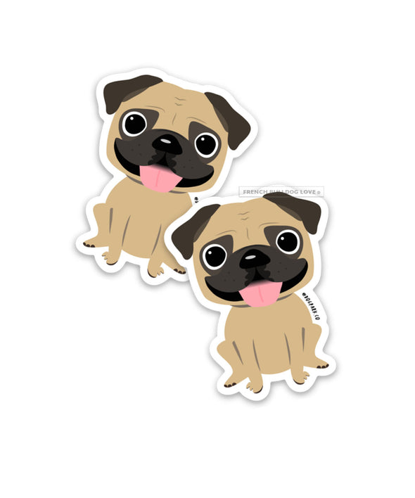 Pug Magnets Set of 2