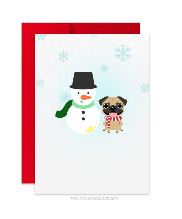 Pug - My Frosty - Holiday Christmas Card