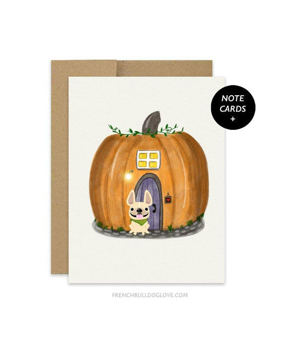#100DAYPROJECT French Bulldog Note Cards Box Set of 12 - PUMPKIN HOUSE