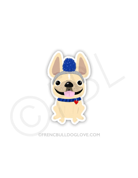 #100DAYPROJECT 48/100 - ROMEO AND HIS FUNNY HAT VINYL FRENCH BULLDOG STICKER