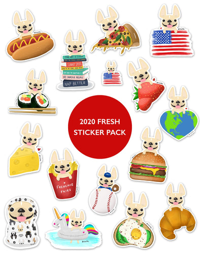 2020 FRESH STICKER PACK - Set of 16 - Waterproof Vinyl Stickers