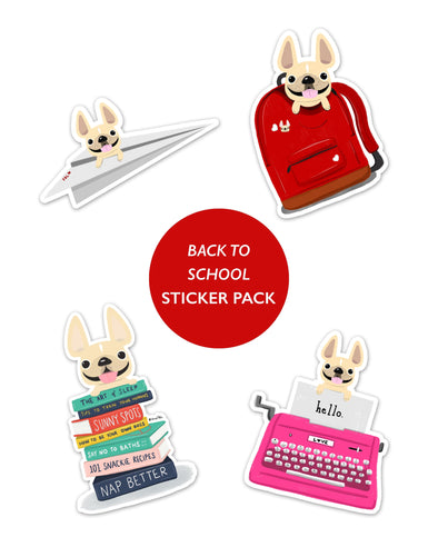 BACK TO SCHOOL STICKER PACK - Set of 4 - Waterproof Vinyl Stickers