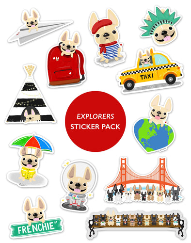 EXPLORERS STICKER PACK - Set of 12 - Waterproof Vinyl Stickers