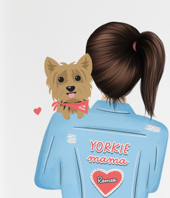 Yorkie Mama Card - Custom Yorkie Mother's Day Card