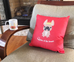 Queen of the House French Bulldog Pillow / Black - French Bulldog Love - 3