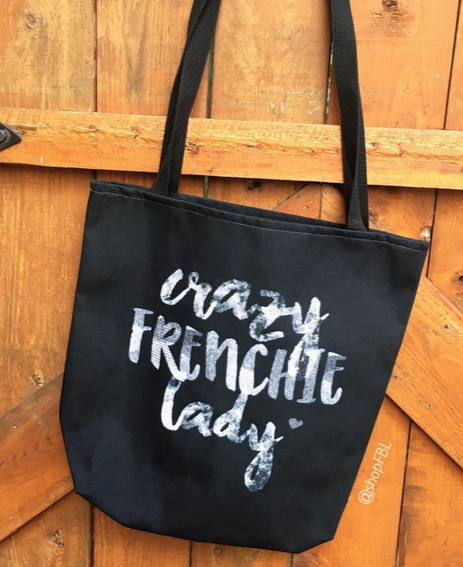 Crazy Frenchie Lady French Bulldog Tote Bag - French Bulldog Love - 2