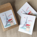 Bonjour/Merci 12 Card French Bulldog Eiffel Tower Set - French Bulldog Love - 17