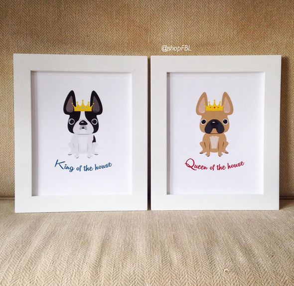 King of the House - Custom Print 8x10 - French Bulldog Love - 19