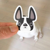 Black & White Pied / French Bulldog Mini Sticker - French Bulldog Love - 3