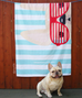Cream / Summer Shades French Bulldog Beach Towel - French Bulldog Love - 2