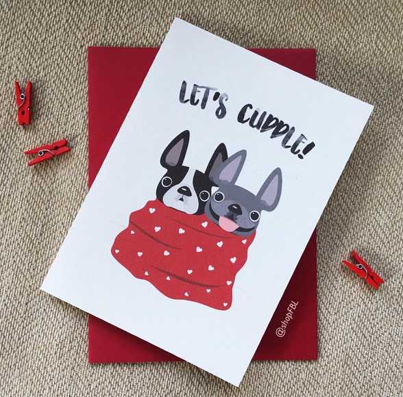 French Bulldog Valentines Day Gifts and Greeting Cards French – French Valentines Cards