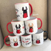Baby It's Cold Outside Double Frenchie Coffee Mug / Honey Pied & Red Pied - French Bulldog Love - 4