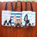 Fawn / Navy Striped French Bulldog Tote Bag - French Bulldog Love - 3