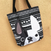 White Pied Mono / Geometric French Bulldog Tote Bag - French Bulldog Love - 2