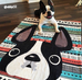 Black & White / Geometric French Bulldog Fleece Blanket - Small - French Bulldog Love - 2