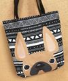 Fawn Mono / Geometric French Bulldog Tote Bag - French Bulldog Love - 2