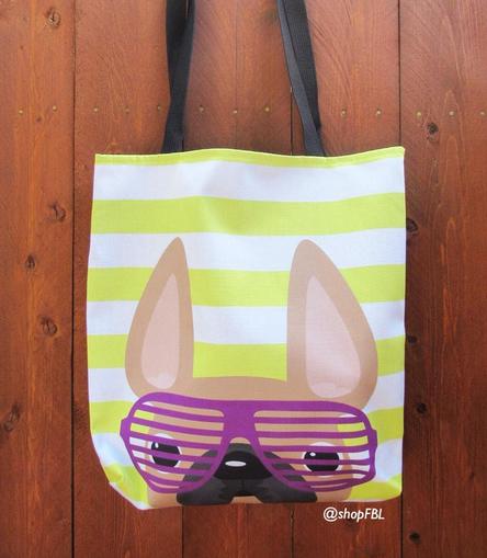 Fawn / Summer Shades French Bulldog Tote Bag - French Bulldog Love - 3