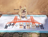 Bay Area Frenchies / French Bulldog Beach Towel - French Bulldog Love - 2