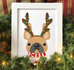 Antlers French Bulldog Holiday Custom Print 8x10 - French Bulldog Love - 4