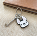 Frenchie Face Mini Keychain / White - French Bulldog Love - 3