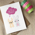 Twins - Easter Card