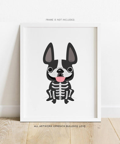 Bones - French Bulldog Halloween Print 8x10
