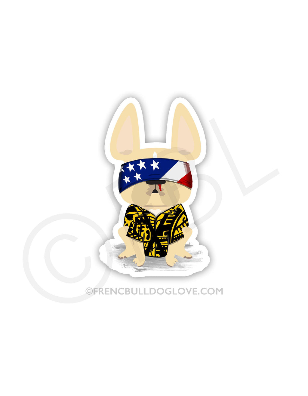 #100DAYPROJECT - STRANGER FRENCHIE THINGS VINYL FRENCH BULLDOG STICKER