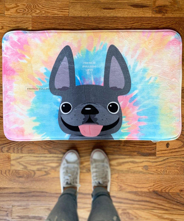 French Bulldog Tie Dye Bath Mat - Classic