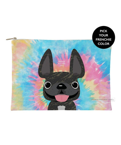 Tie Dye Frenchie Pouch - Classic - Large