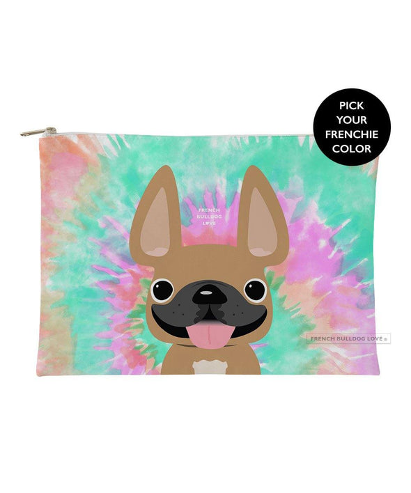 Tie Dye Frenchie Pouch - Starburst - Large