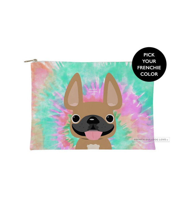 Tie Dye Frenchie Pouch - Starburst - Small - French Bulldog Love