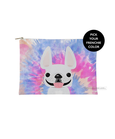 Tie Dye Frenchie Pouch - Pinks - Small