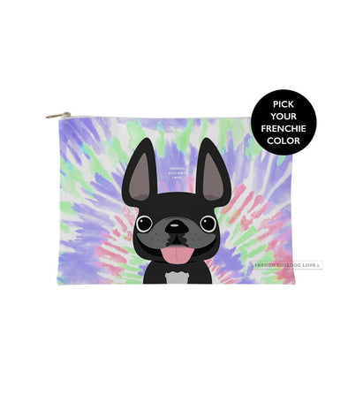 Tie Dye Frenchie Pouch - Retro - Small