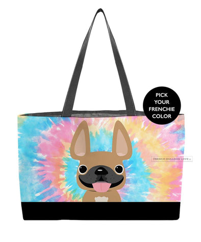 Tie Dye Weekender Bag - Classic - by French Bulldog Love