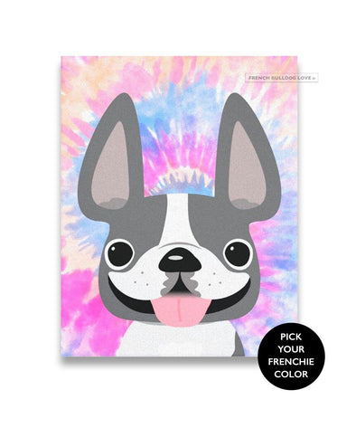 Premium Gallery Wrapped Canvas - Tie Dye - Pinks