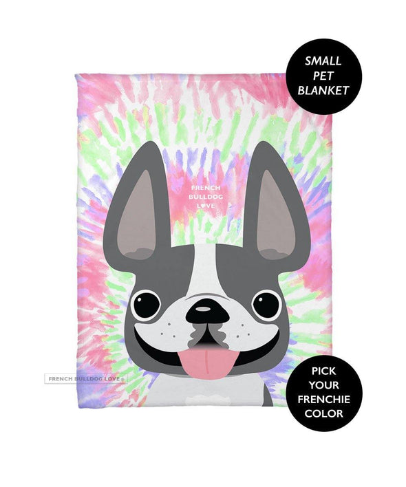 Tie Dye Fleece Blanket - Retro - Small