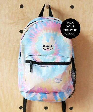 Tie Dye Backpack by French Bulldog Love - CLASSIC - French Bulldog Love